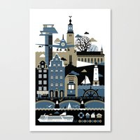 stockholm Canvas Prints featuring Stockholm by koivo