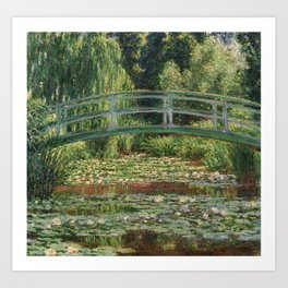 Monet - The Japanese Footbridge and the Water Lily Pool Art Print