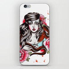 The Girl The Snake and The Hamster iPhone & iPod Skin