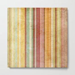 pattern grundgy stripes Metal Print