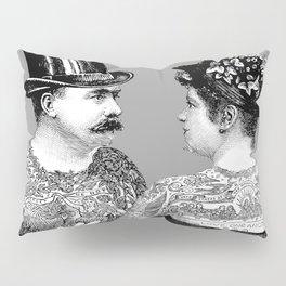 Tattooed Victorian Lovers Pillow Sham