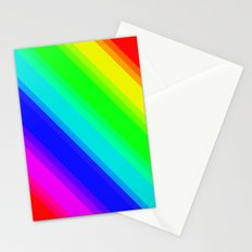 Brightly Coloured Stripes Stationery Cards