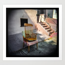 Chair Sits Art Print
