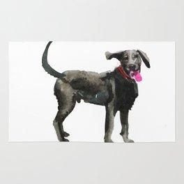 watercolor dog vol 16 silver labrador Rug
