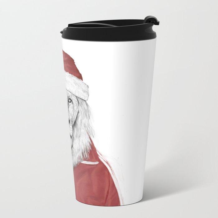 Santa lion Metal Travel Mug