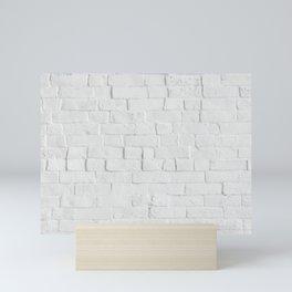 White Brick Wall - Photography Mini Art Print