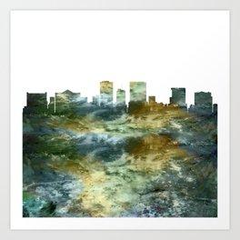 El Paso Skyline Texas Art Print