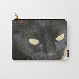 Beautiful Black Cat Portrait  Carry-All Pouch