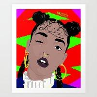 fka twigs Art Prints featuring FKA TWIGS by RVRXSPXCIX