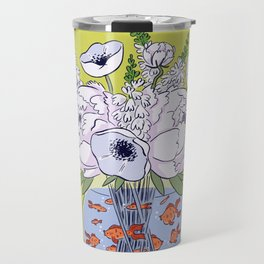 Goldfish Flowers Travel Mug