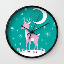 Rare Pink Fawn Wall Clock