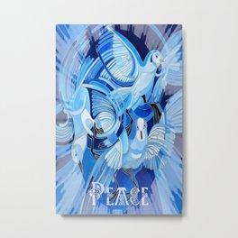 Celtic Peace Dove Greeting Card  Metal Print