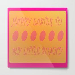 Happy Easter Bunny Metal Print