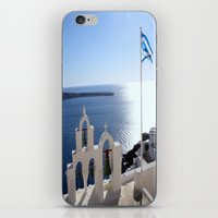greece iPhone & iPod Skins featuring Greece by Shine Like Sunbeams