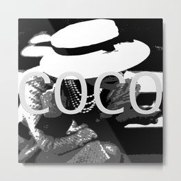 VINTAGE COCO COLLECTION: COCO WHITE HAT Metal Print