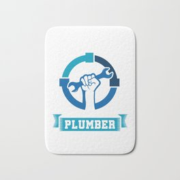 Keep Your Pipe Clean Funny Plumber Plumbing Pipe Repair Piping Pipes Gift Bath Mat