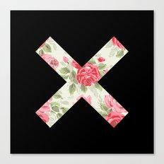 X Floral | X Canvas Print