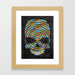 Hypnotic Skull Framed Art Print