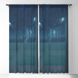 Nocturne in the Park, Midnight, Night Scene by William Degouve de Nuncques Blackout Curtain