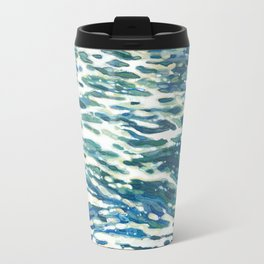 Rough Ocean Wake Travel Mug