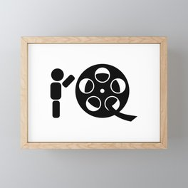 Abstract character rolling movie reel Framed Mini Art Print