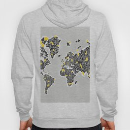 Abstract World Map Hoody