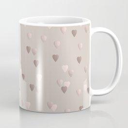 Elegant rose gold heart pattern Coffee Mug