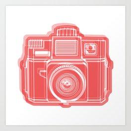 I Still Shoot Film Holga Logo - Red Art Print