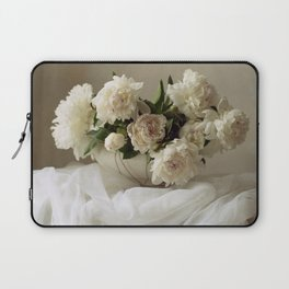 Garden peonies for Justine - wedding bouquet photography Laptop Sleeve