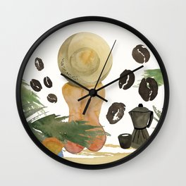 Tropical cheeks Wall Clock