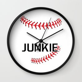 Softball Junkie Graphic Funny Sports T-shirt Wall Clock