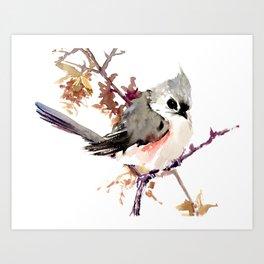 Bird Titmouse, nursery design, children room bird design bird lover Art Print