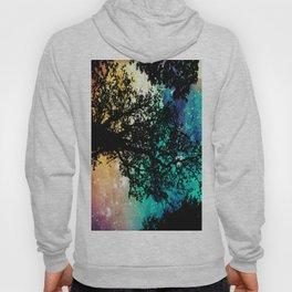 Black Trees Colorful Space Hoody