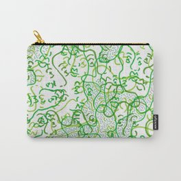 Green on green faces Carry-All Pouch