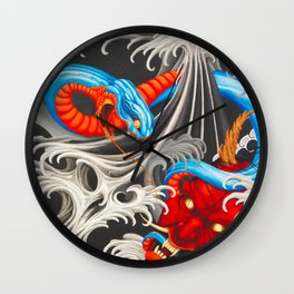 Demon Water Rivals Wall Clock
