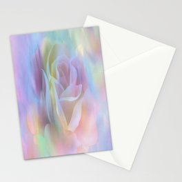 Pastel Watercolor Rose Stationery Cards