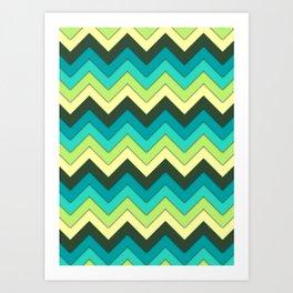 Multicolor Pattern Art Print