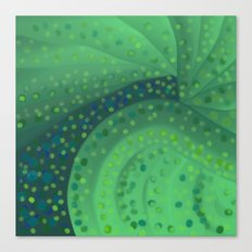 Gold and Green Coins Canvas Print