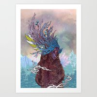 Journeying Spirit (Bear) Art Print