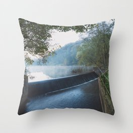 deep hayes country park waterfall Throw Pillow