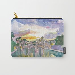 Rome Italy Vatican San Pietro in the Evening Glory Carry-All Pouch
