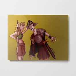 Being Mighty All Day Long Metal Print