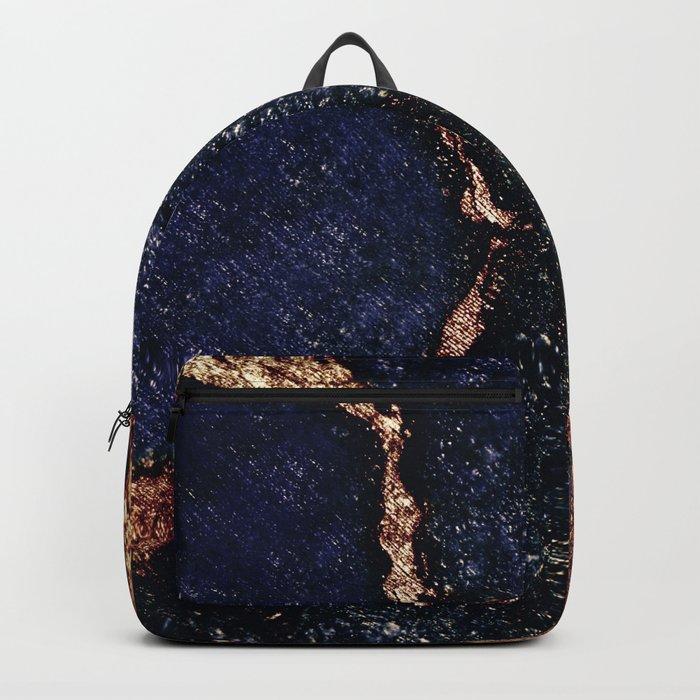 INDIGO & GOLD GEMSTONE Backpack