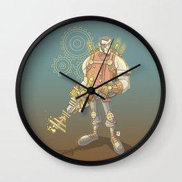 Steampunk Explorer Wall Clock