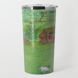 Sheep in the Countryside Travel Mug