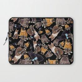 Tough Cats on Black Laptop Sleeve