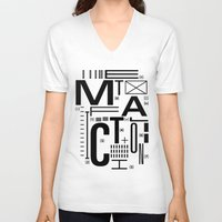 metal V-neck T-shirts featuring METAL FICTION by cmyka