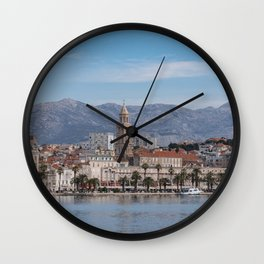 Split Croatia Old Town Waterfront Photography Wall Clock
