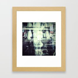 COLLIDING REALITIES Framed Art Print