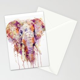 Elephant Head Stationery Cards